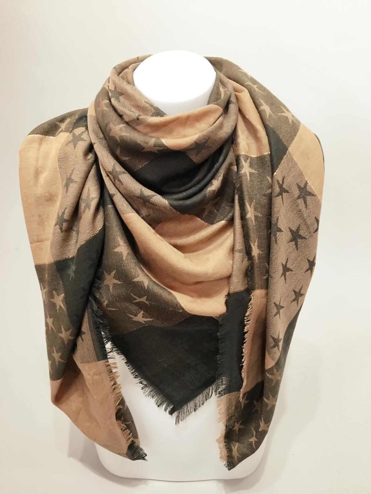 Módní šátek Star žluto zelená new 03