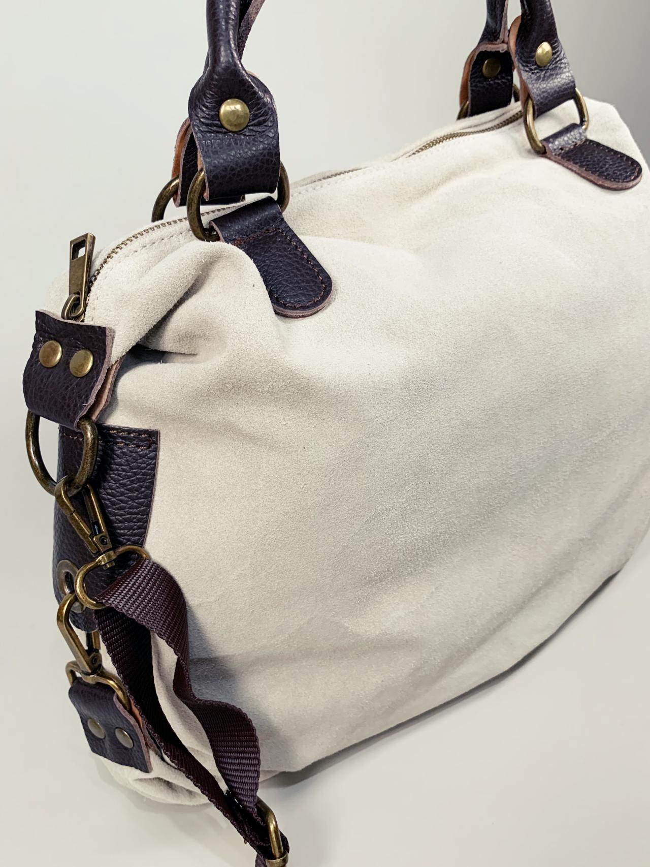 Kožená kabelka Izzy béžová -05