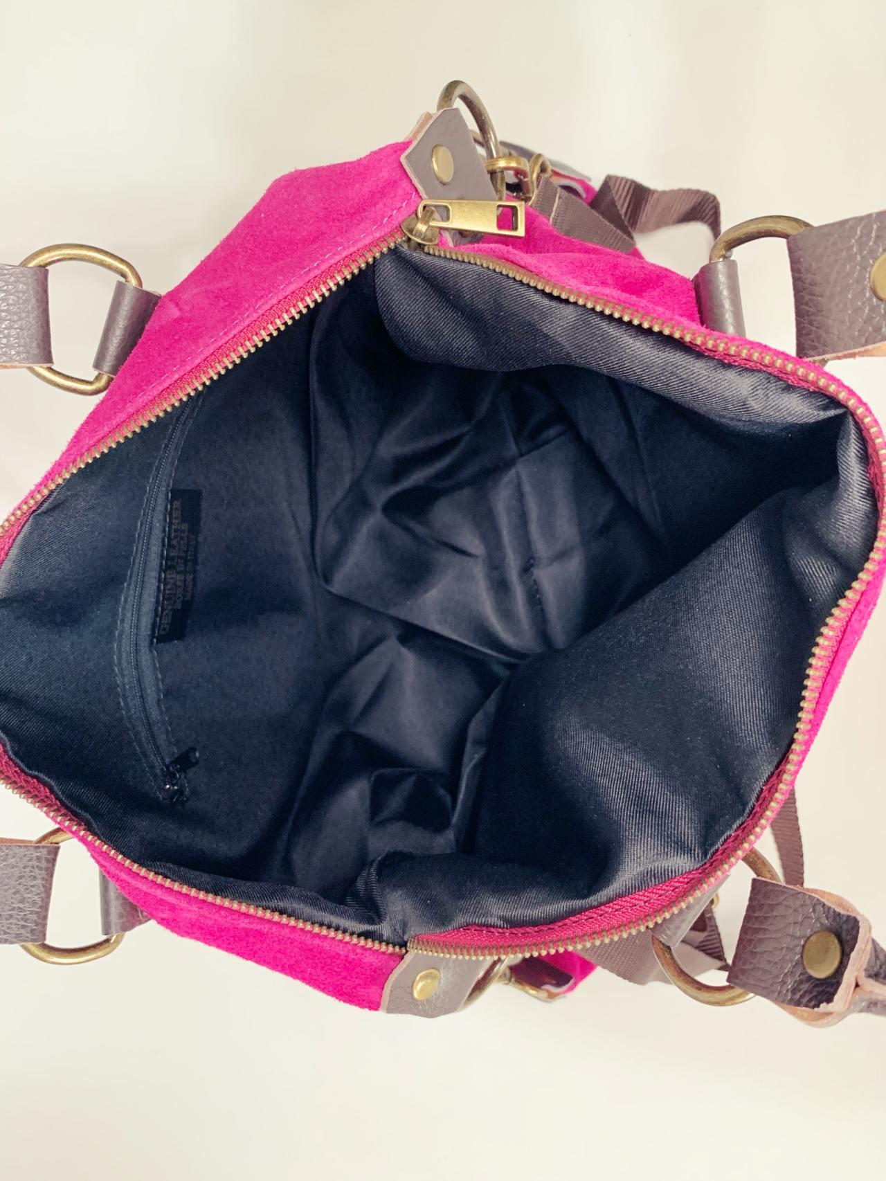 Kožená kabelka Izzy fuchsiová-05