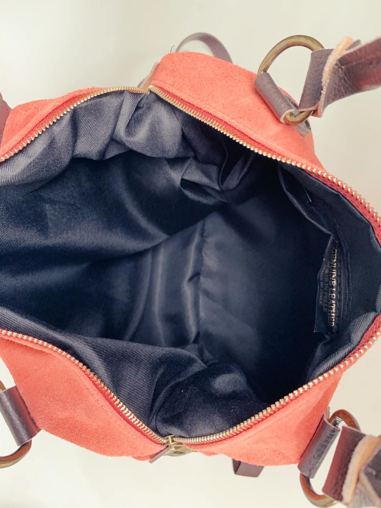 Kožená kabelka Izzy lososová -06