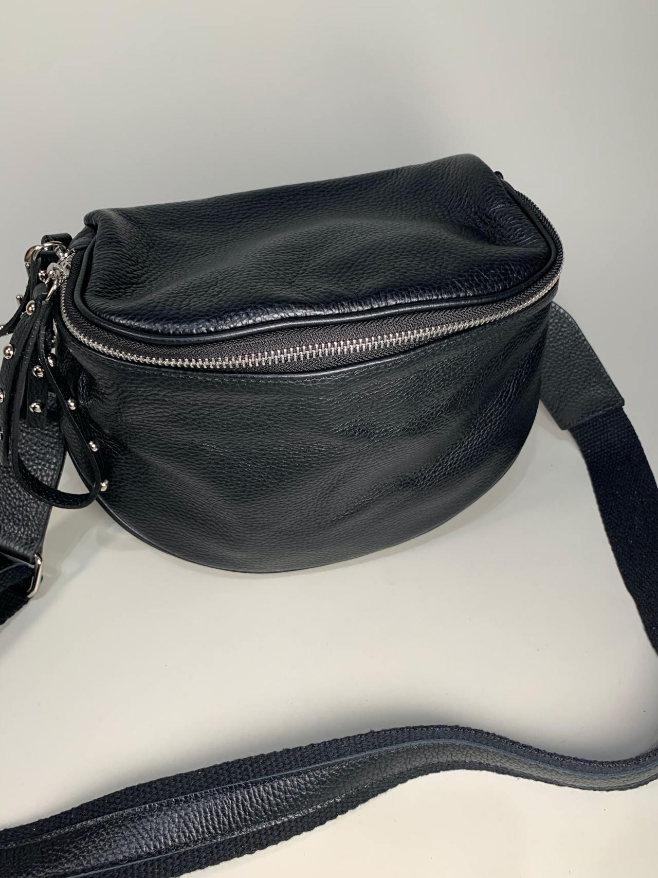 Kožená kabelka Jenny černá -02