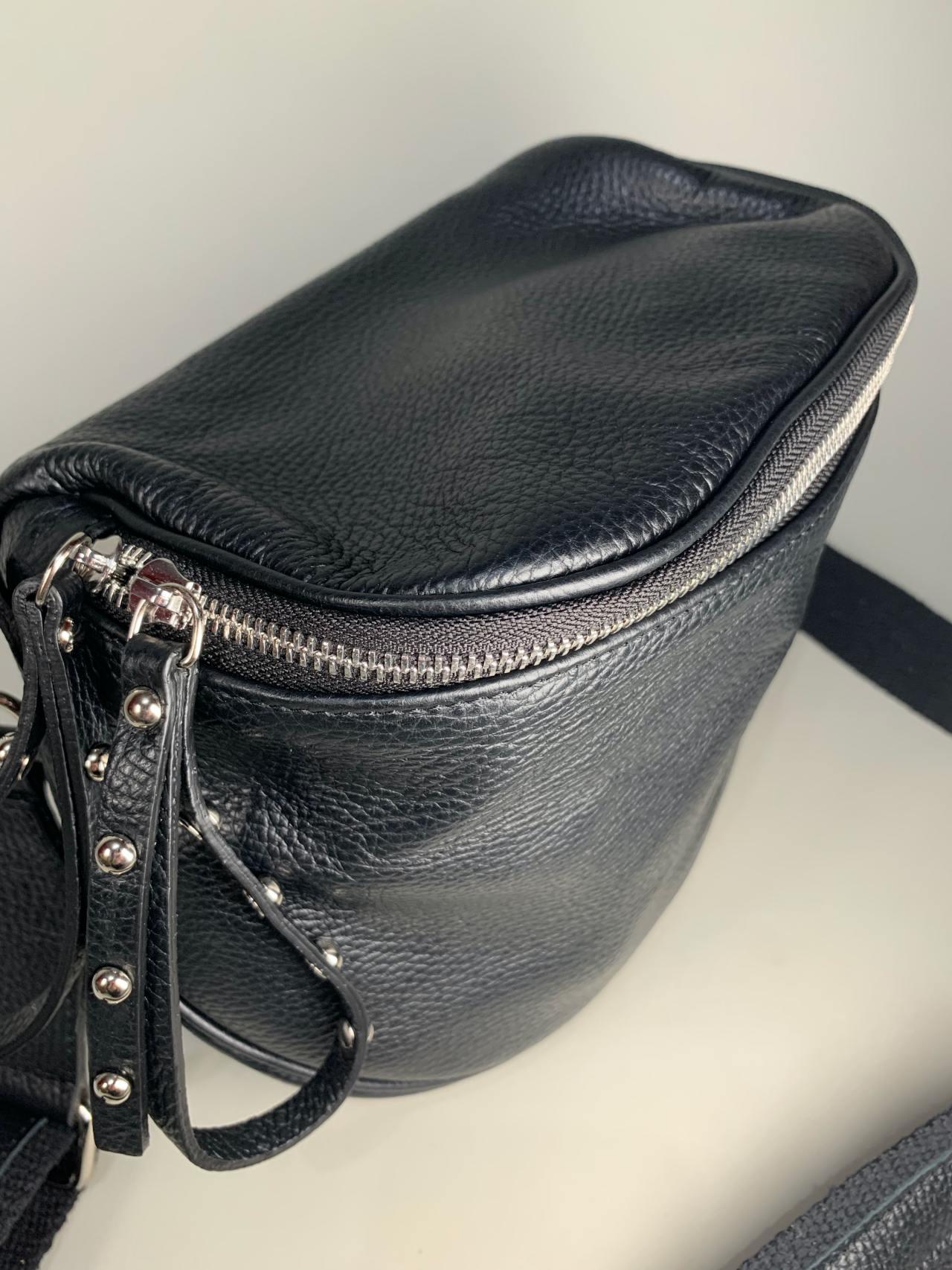 Kožená kabelka Jenny černá -03