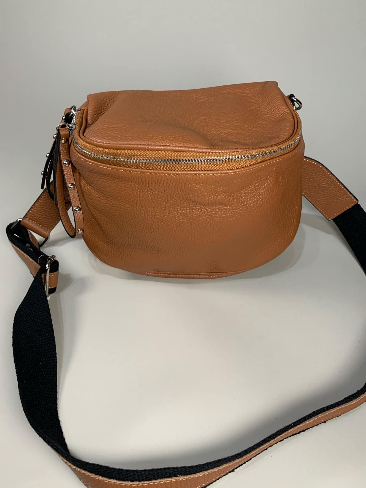 Kožená kabelka Jenny hnědá -01