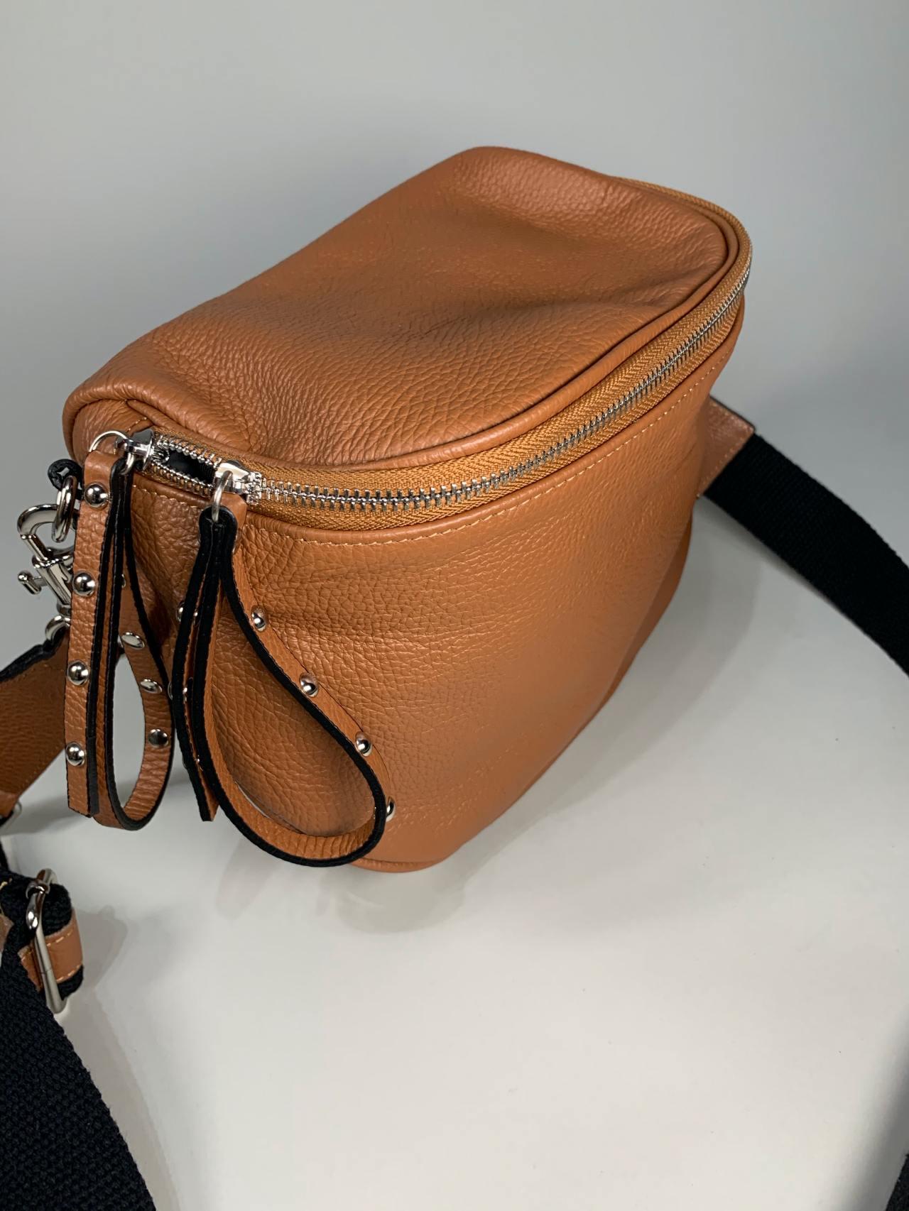 Kožená kabelka Jenny hnědá -02