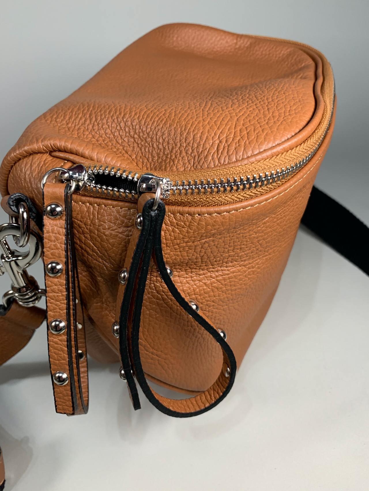 Kožená kabelka Jenny hnědá -03