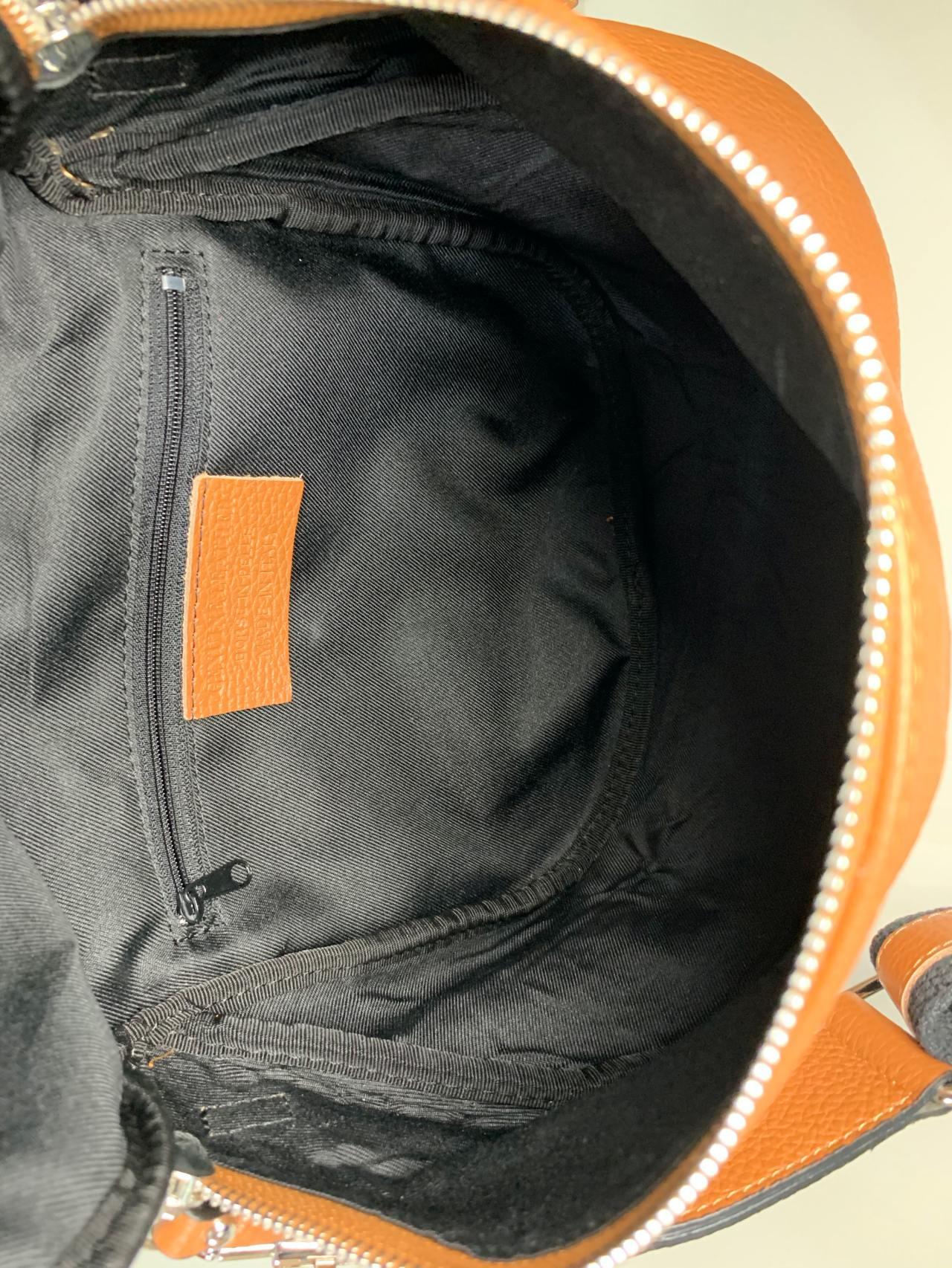 Kožená kabelka Jenny hnědá -04