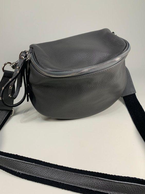 Kožená kabelka Jenny šedá -01