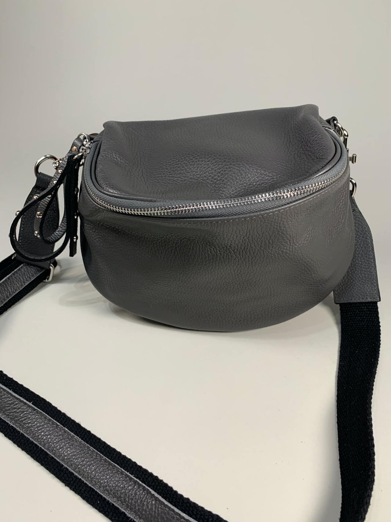 Kožená kabelka Jenny šedá -02