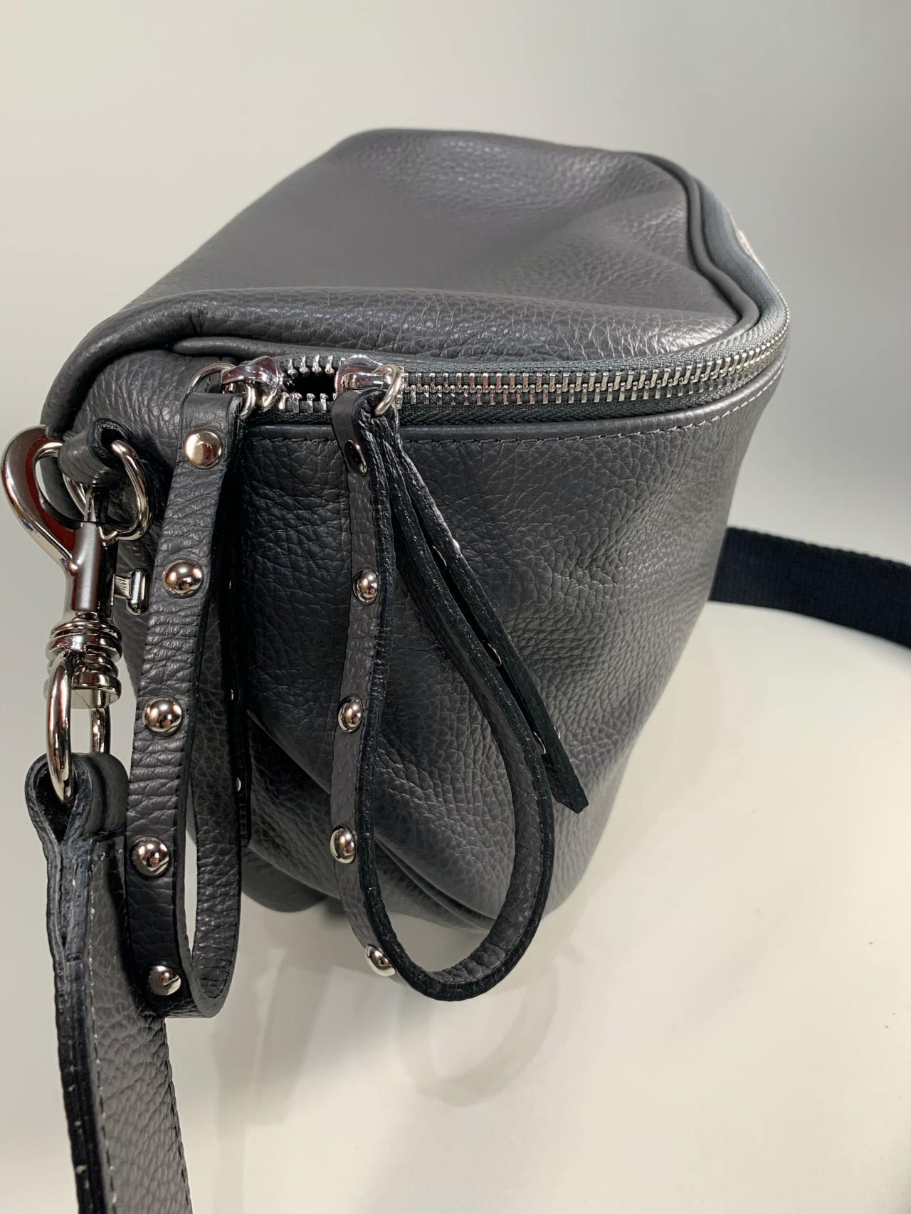 Kožená kabelka Jenny šedá -03