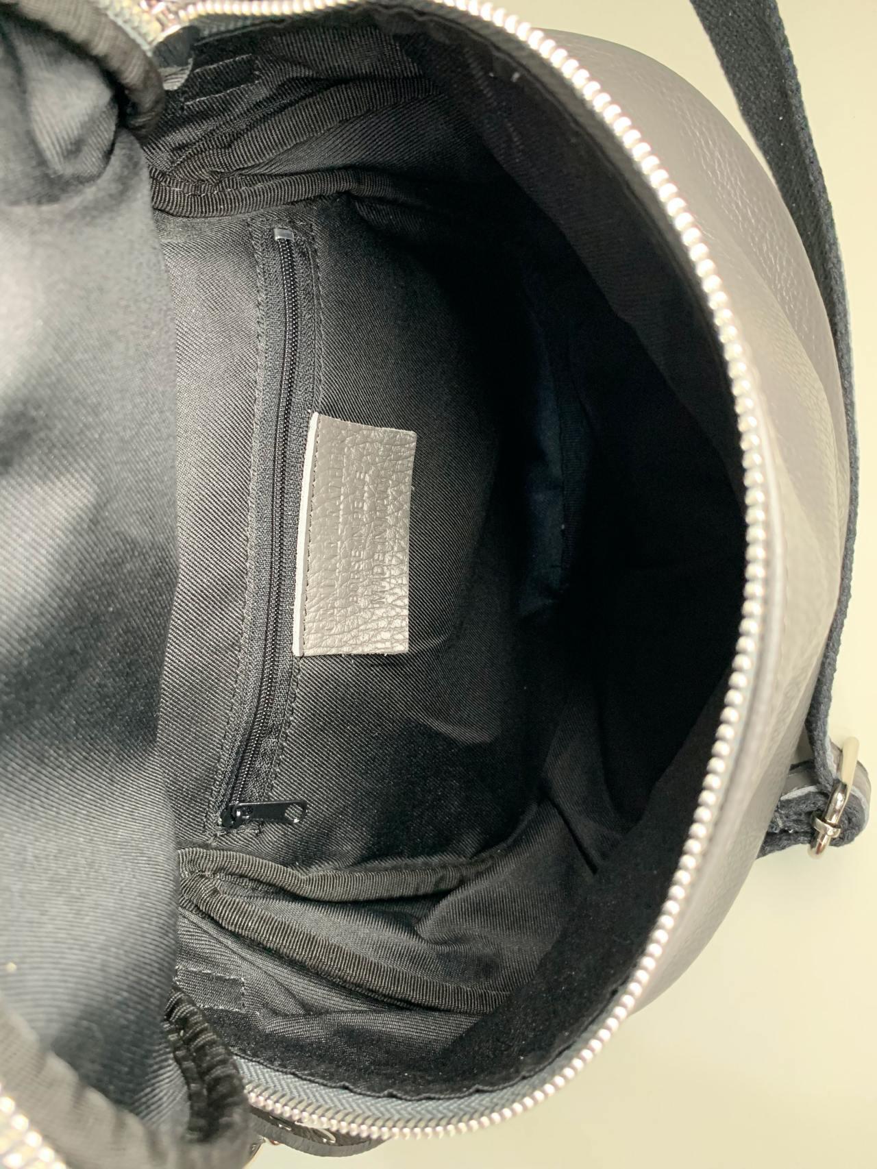Kožená kabelka Jenny šedá -05