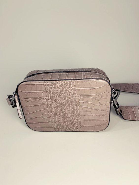 Kožená kabelka Laura šedá -01