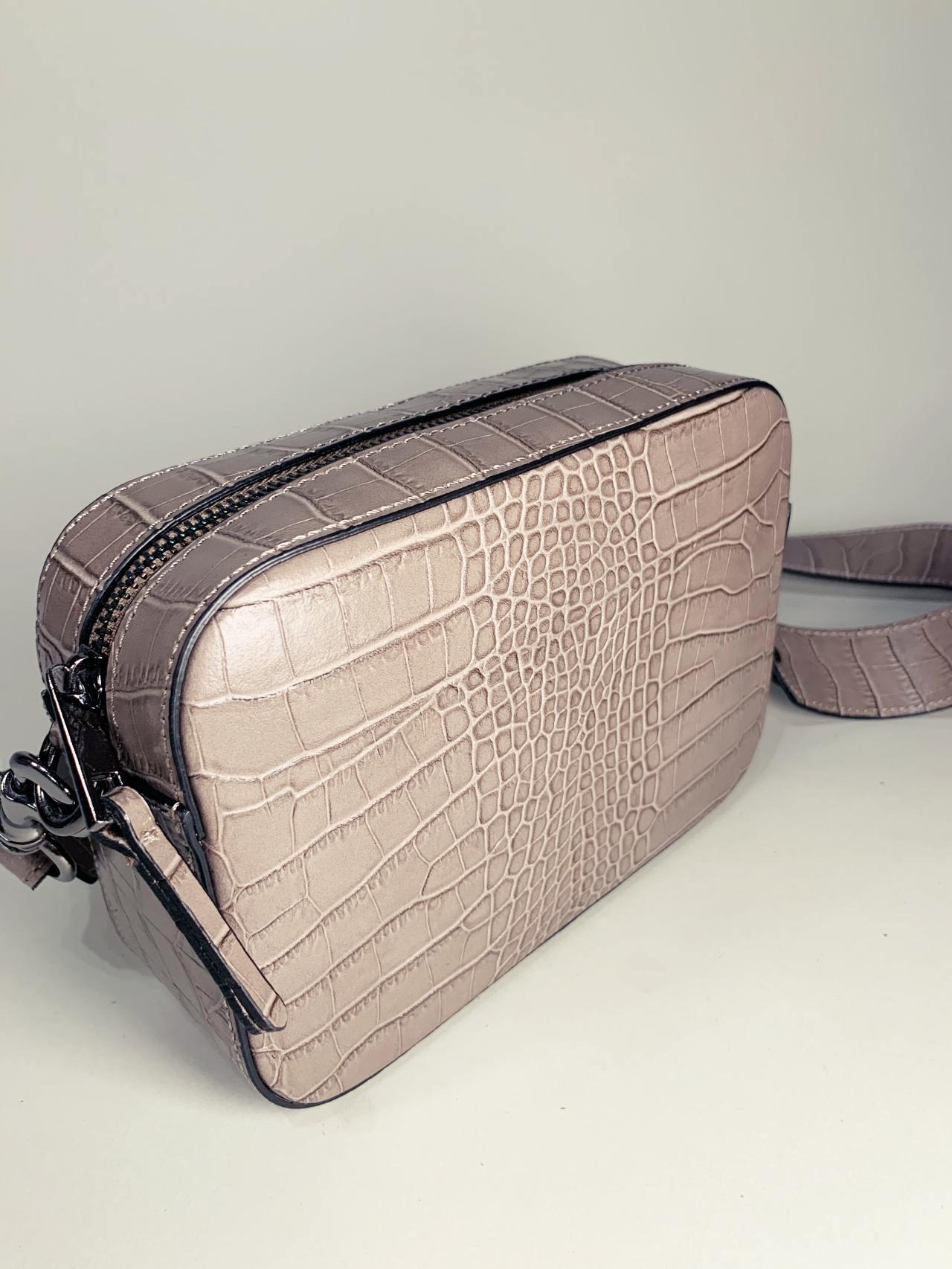 Kožená kabelka Laura šedá -02