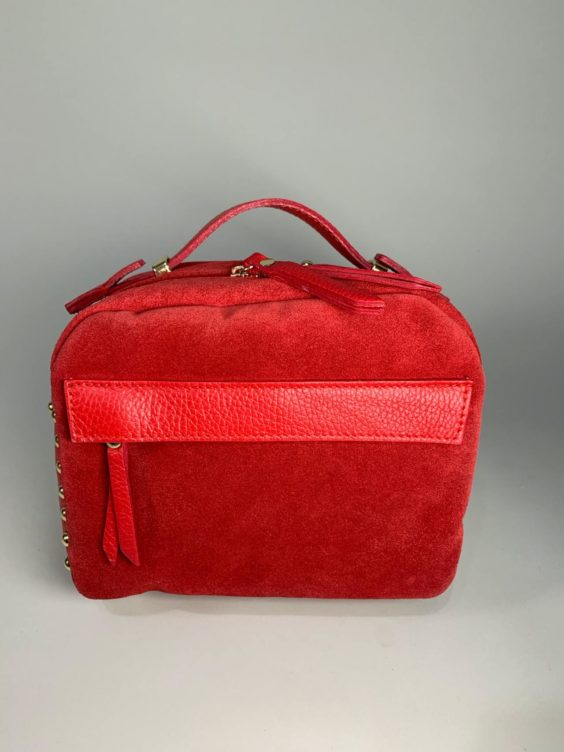 Kožená kabelka Saly červená -01