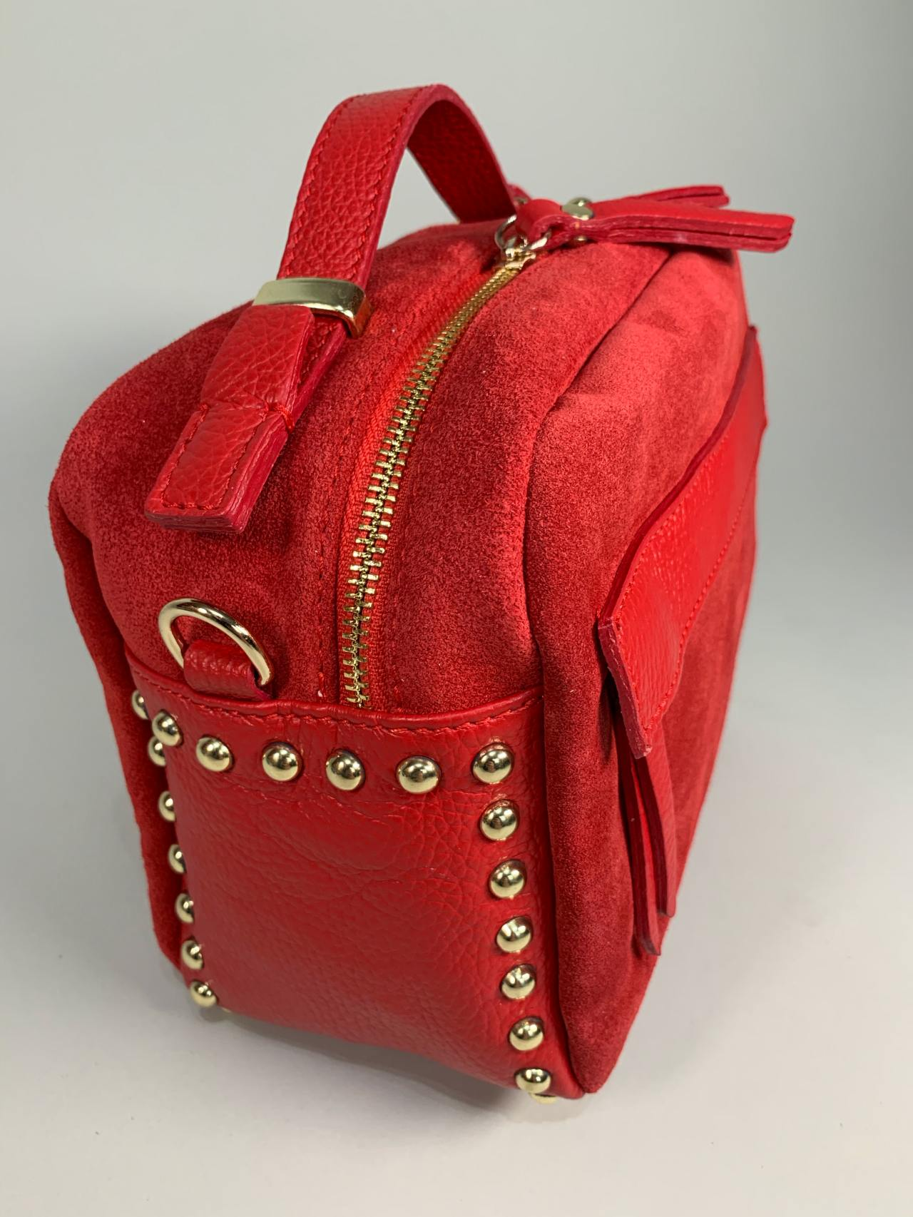 Kožená kabelka Saly červená -03