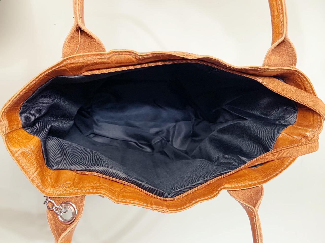 Kožená kabelka Stella hnědá -05