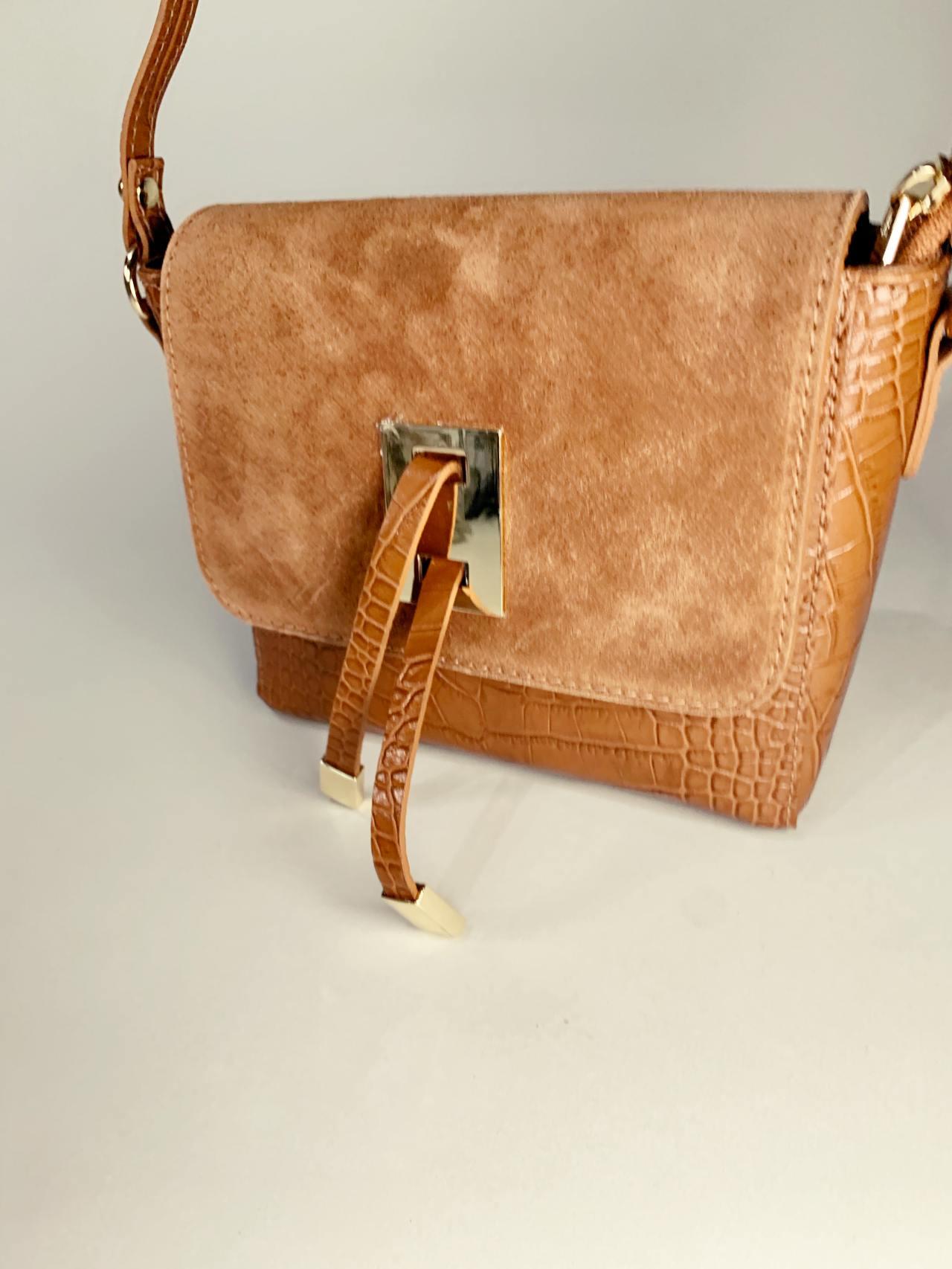 Kožená kabelka Tali hnědá -05