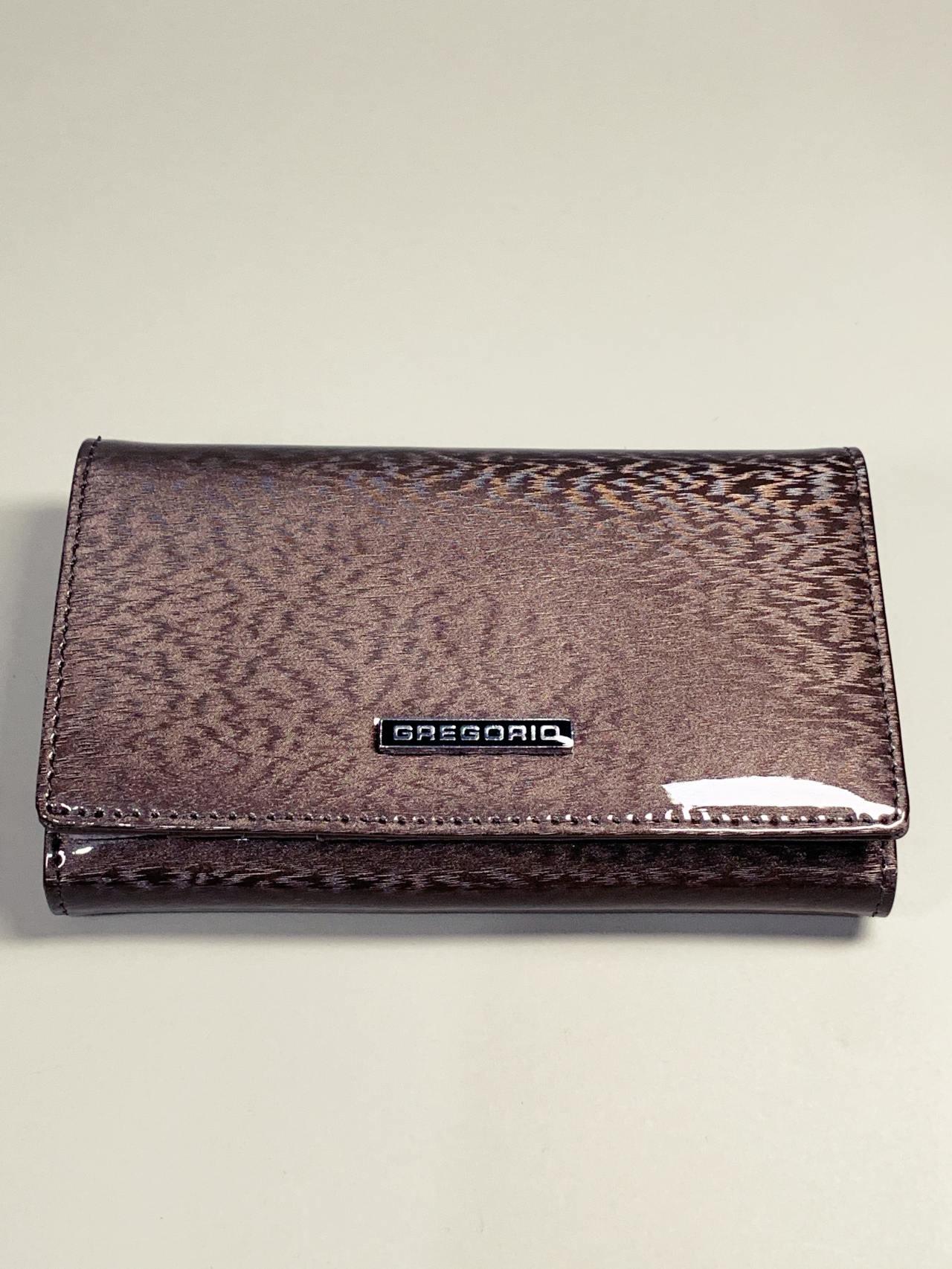 Kožená peněženka Gregorio M šedá -02