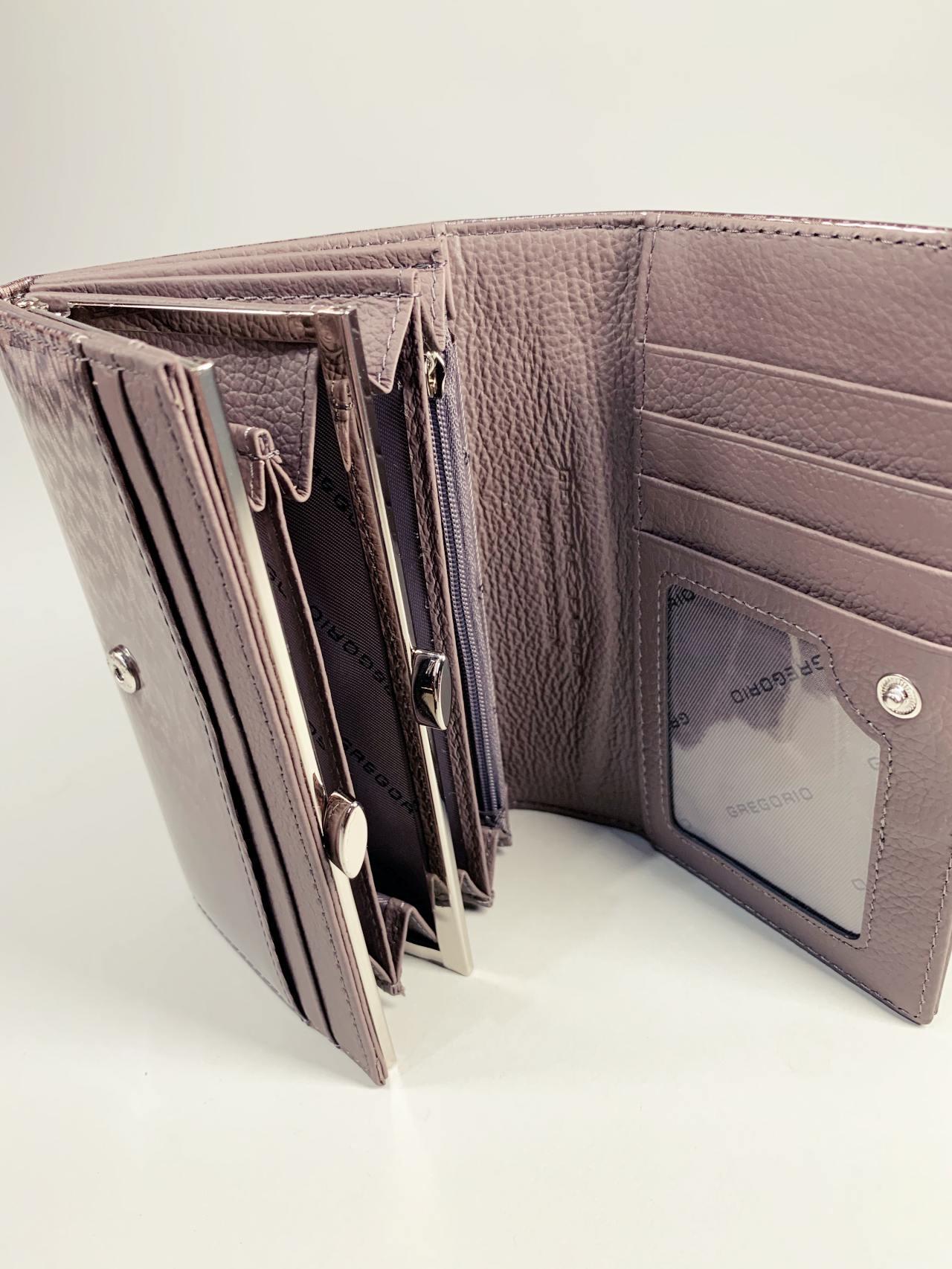 Kožená peněženka Gregorio M šedá -04