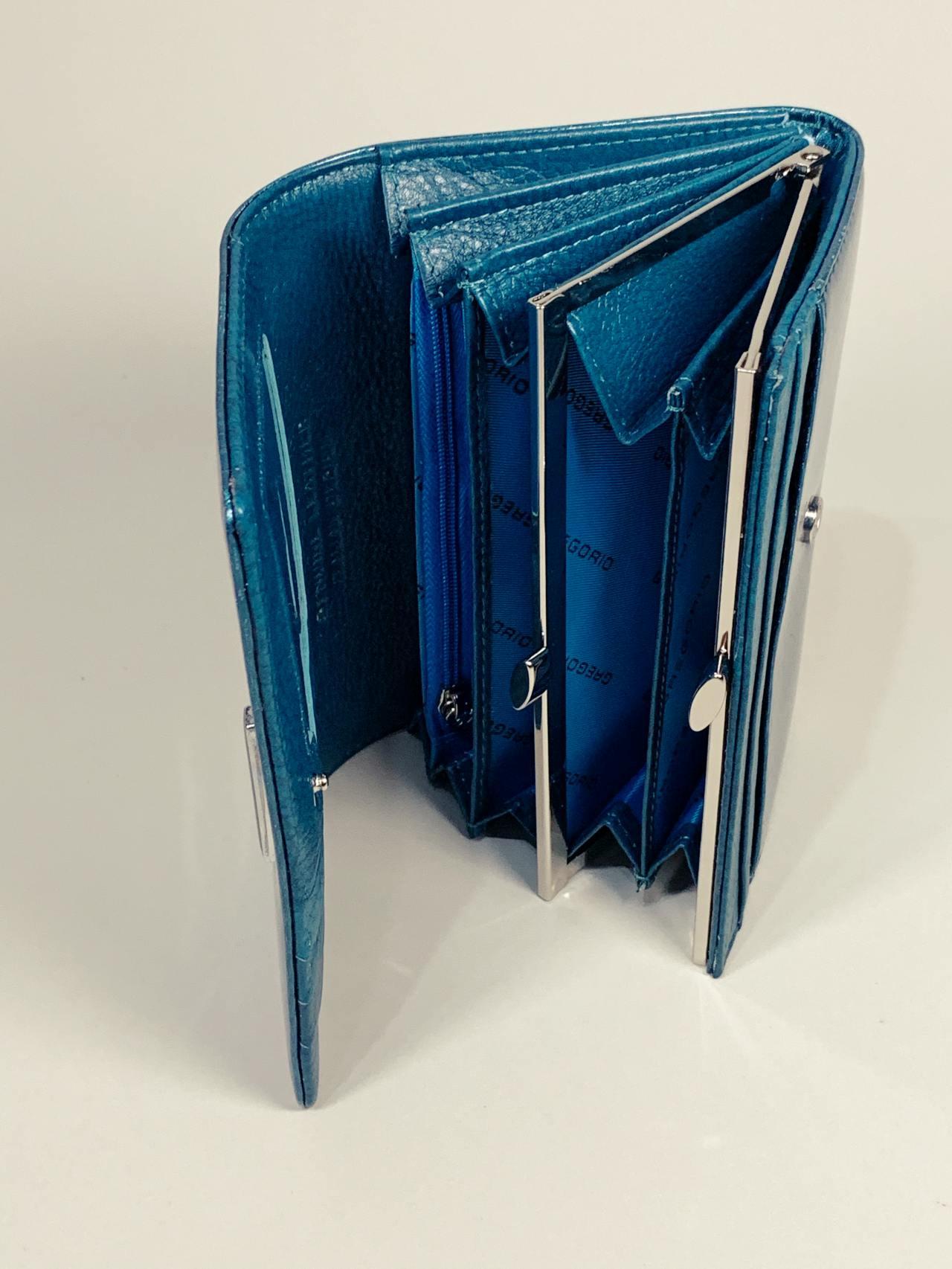 Kožená peněženka Gregorio M tyrkysová -04