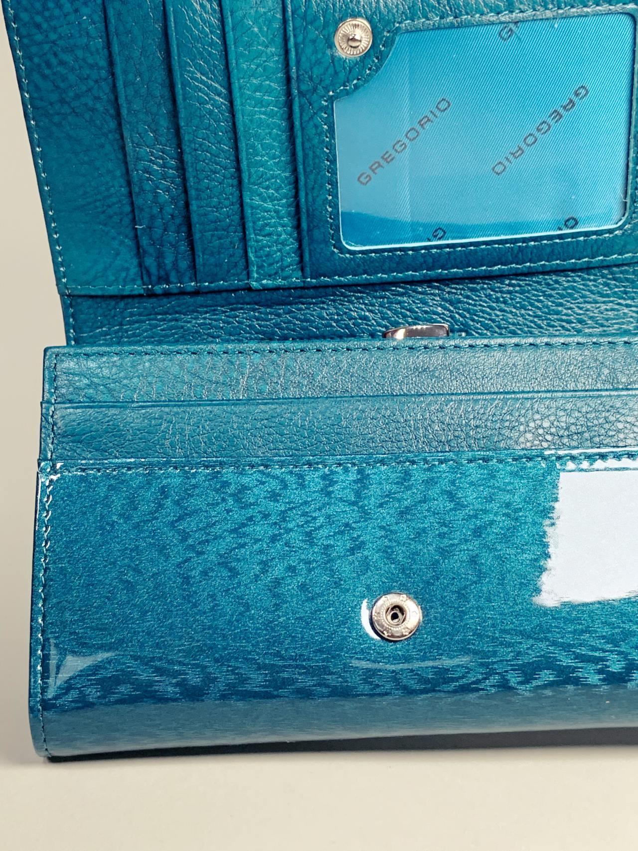 Kožená peněženka Gregorio M tyrkysová -05