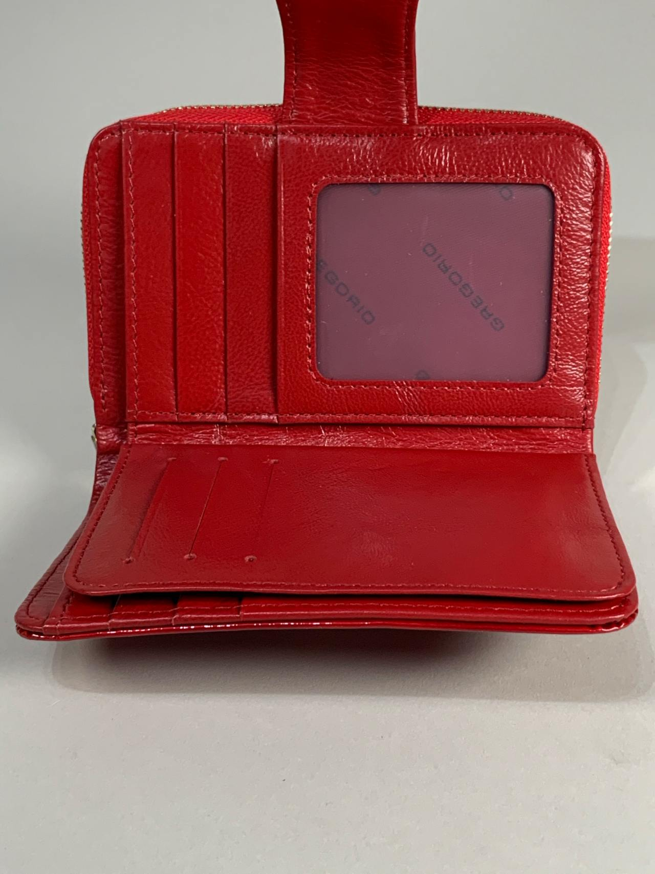 Kožená peněženka Gregorio S červená s motýly -04