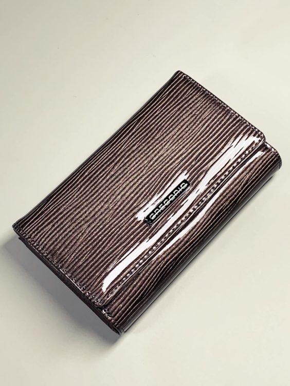 Kožená peněženka Gregorio S šedá lesklá -01