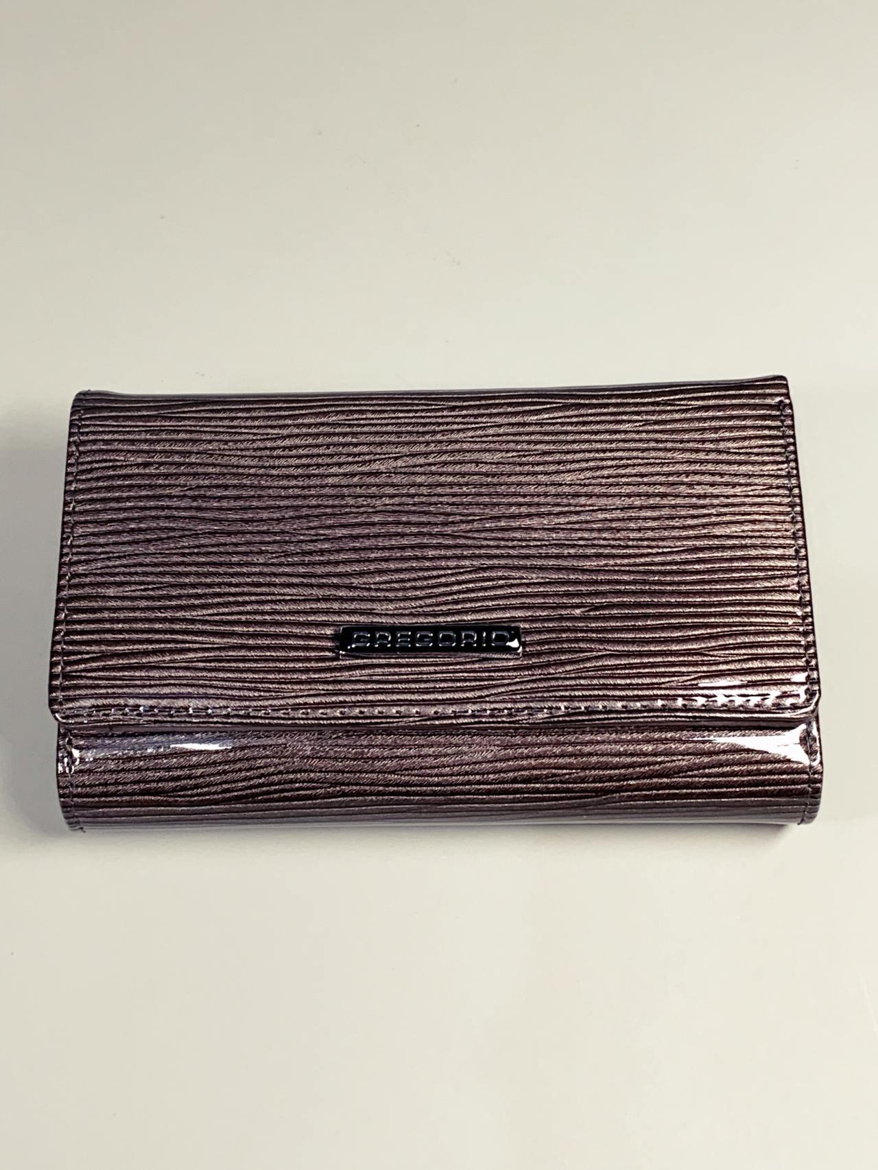 Kožená peněženka Gregorio S šedá lesklá -02