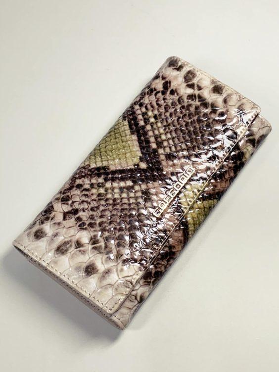 Kožená peněženka Gregorio Snake L zelená -01