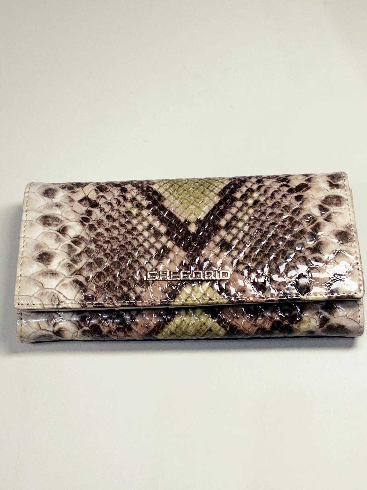 Kožená peněženka Gregorio Snake L zelená -02
