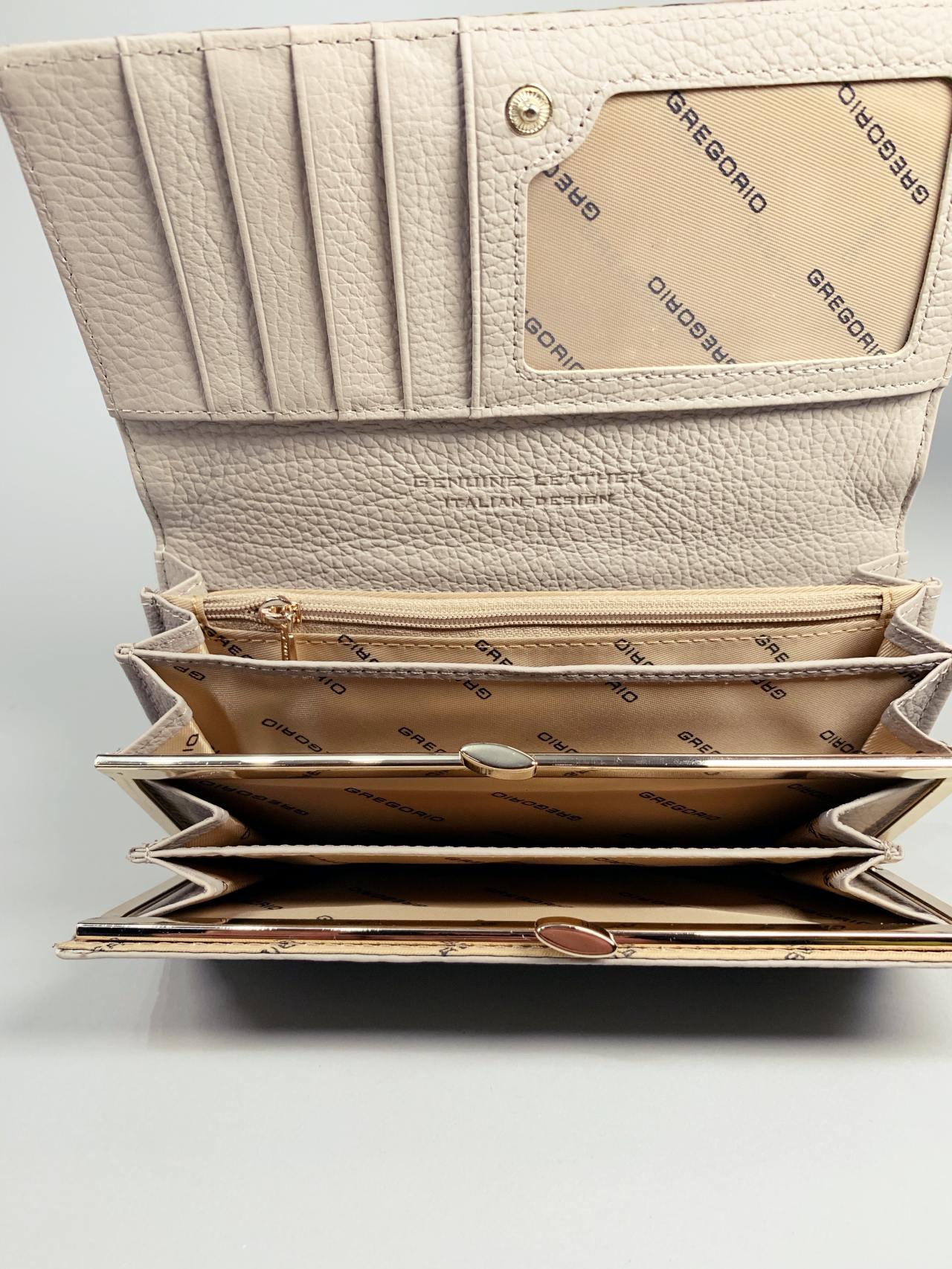 Kožená peněženka Gregorio Snake L zelená -03