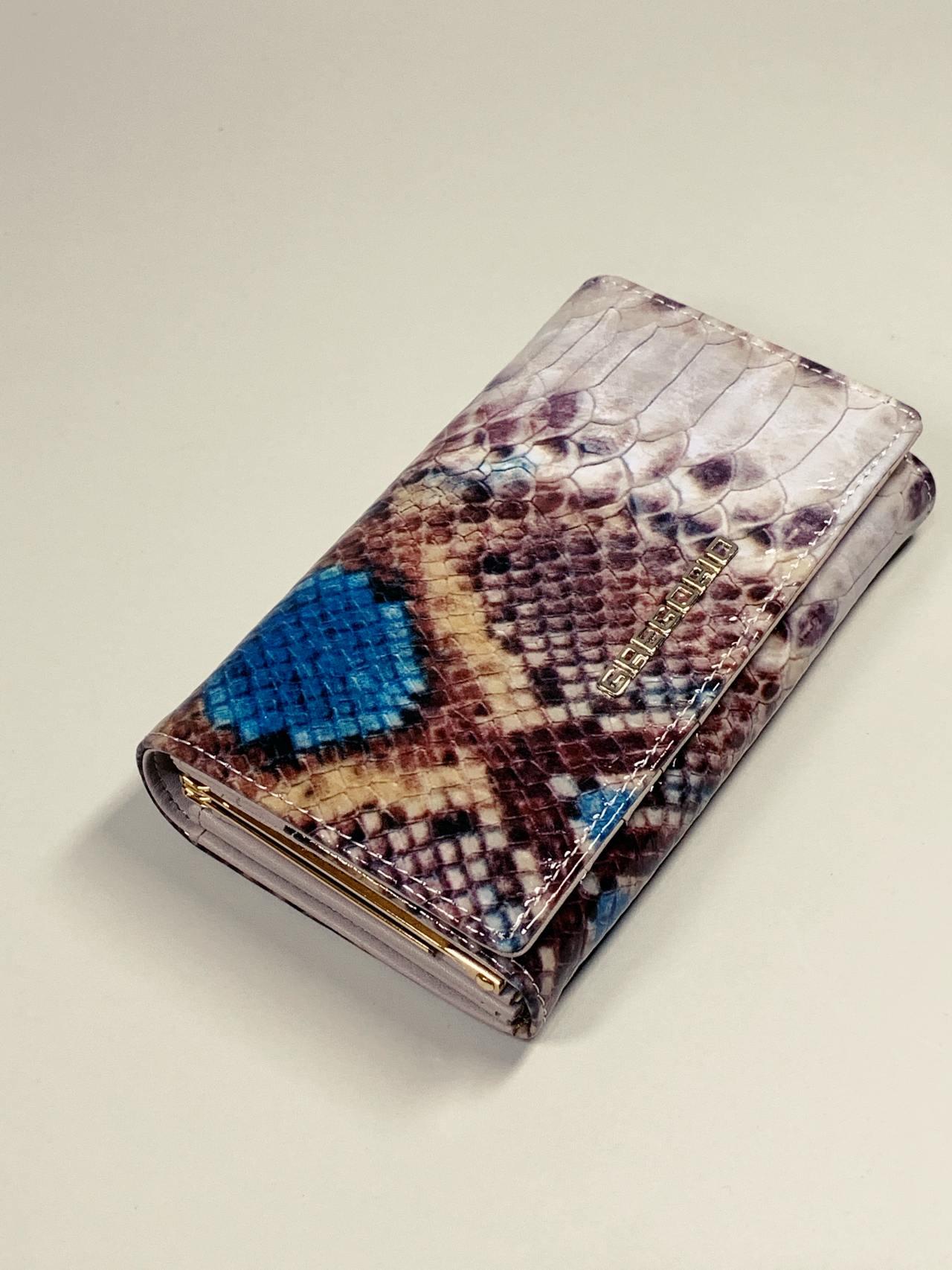 Kožená peněženka Gregorio Snake M modrá -01
