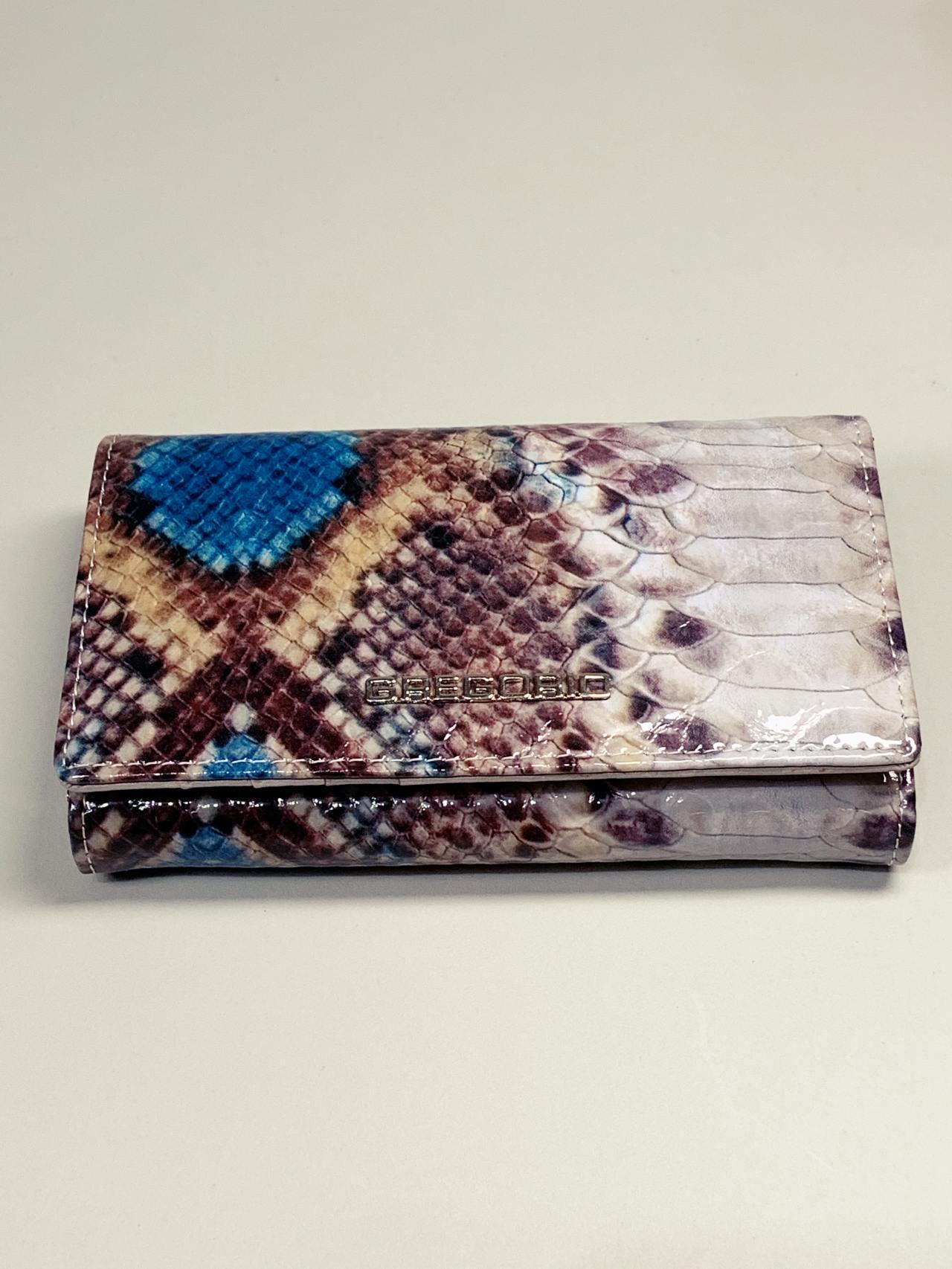 Kožená peněženka Gregorio Snake M modrá -02