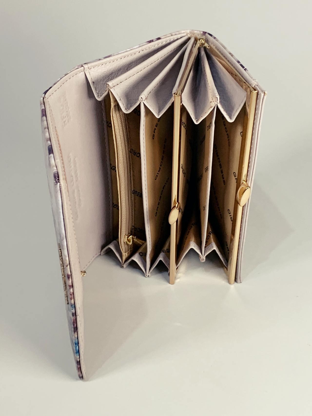 Kožená peněženka Gregorio Snake M modrá -03