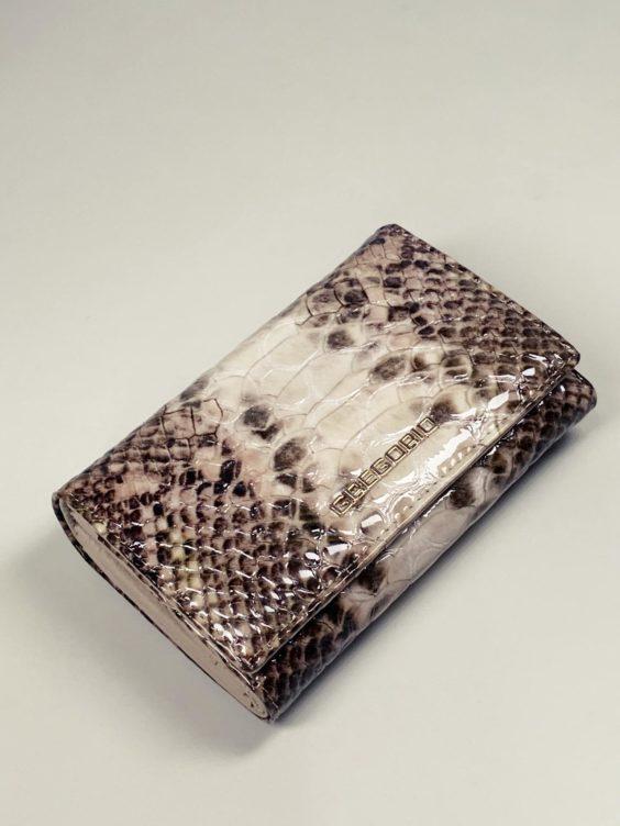 Kožená peněženka Gregorio Snake M2 hnědá -01