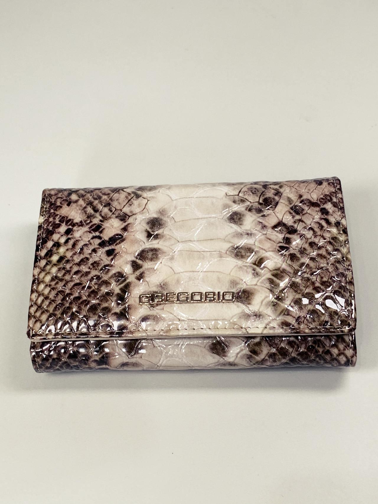 Kožená peněženka Gregorio Snake M2 hnědá -02