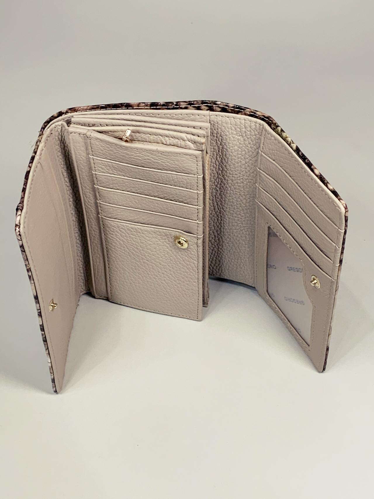 Kožená peněženka Gregorio Snake M2 hnědá -03