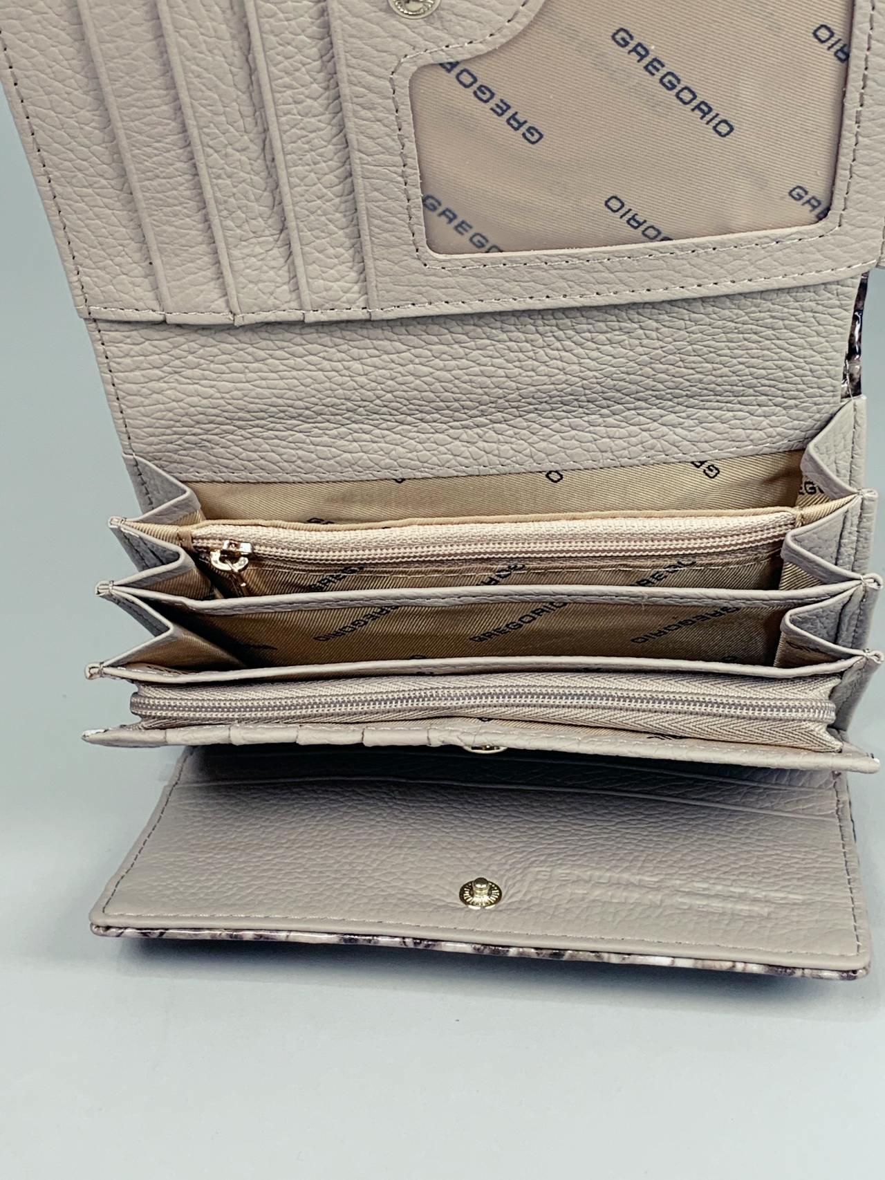 Kožená peněženka Gregorio Snake M2 hnědá -04