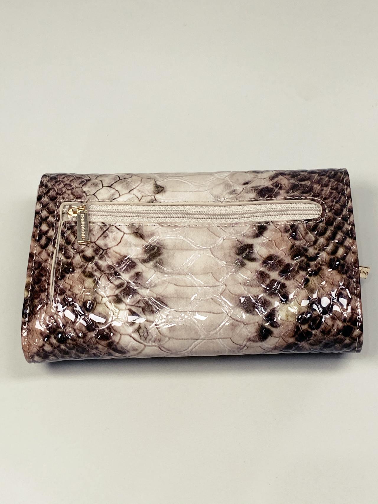 Kožená peněženka Gregorio Snake M2 hnědá -06