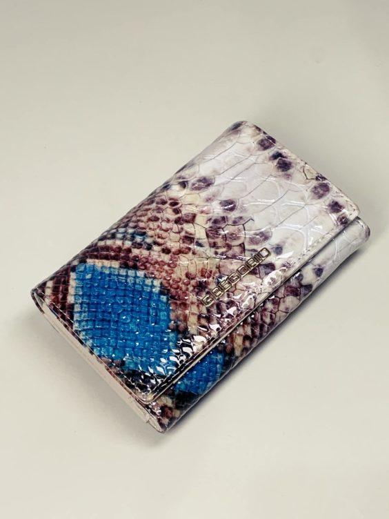 Kožená peněženka Gregorio Snake M2 modrá -01