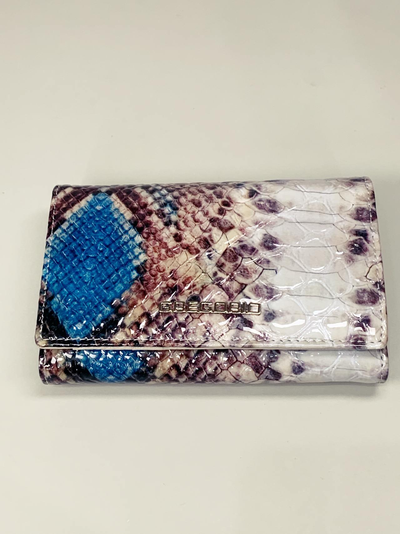 Kožená peněženka Gregorio Snake M2 modrá -02