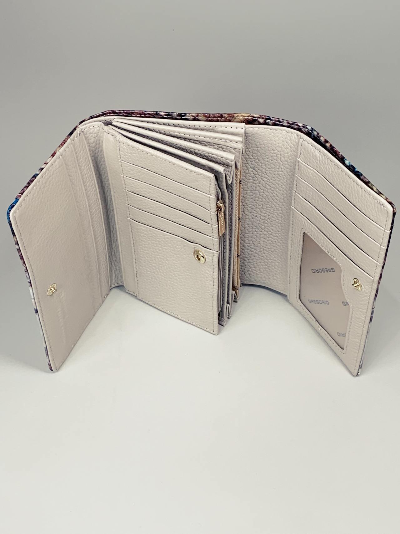Kožená peněženka Gregorio Snake M2 modrá -03