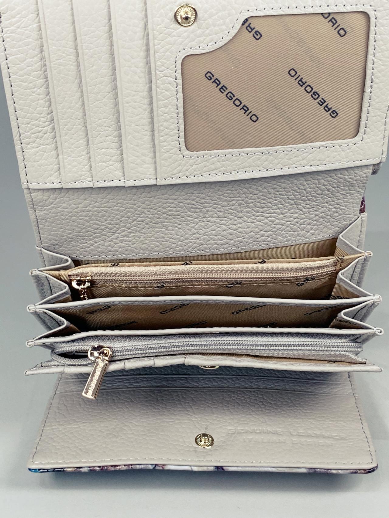 Kožená peněženka Gregorio Snake M2 modrá -04