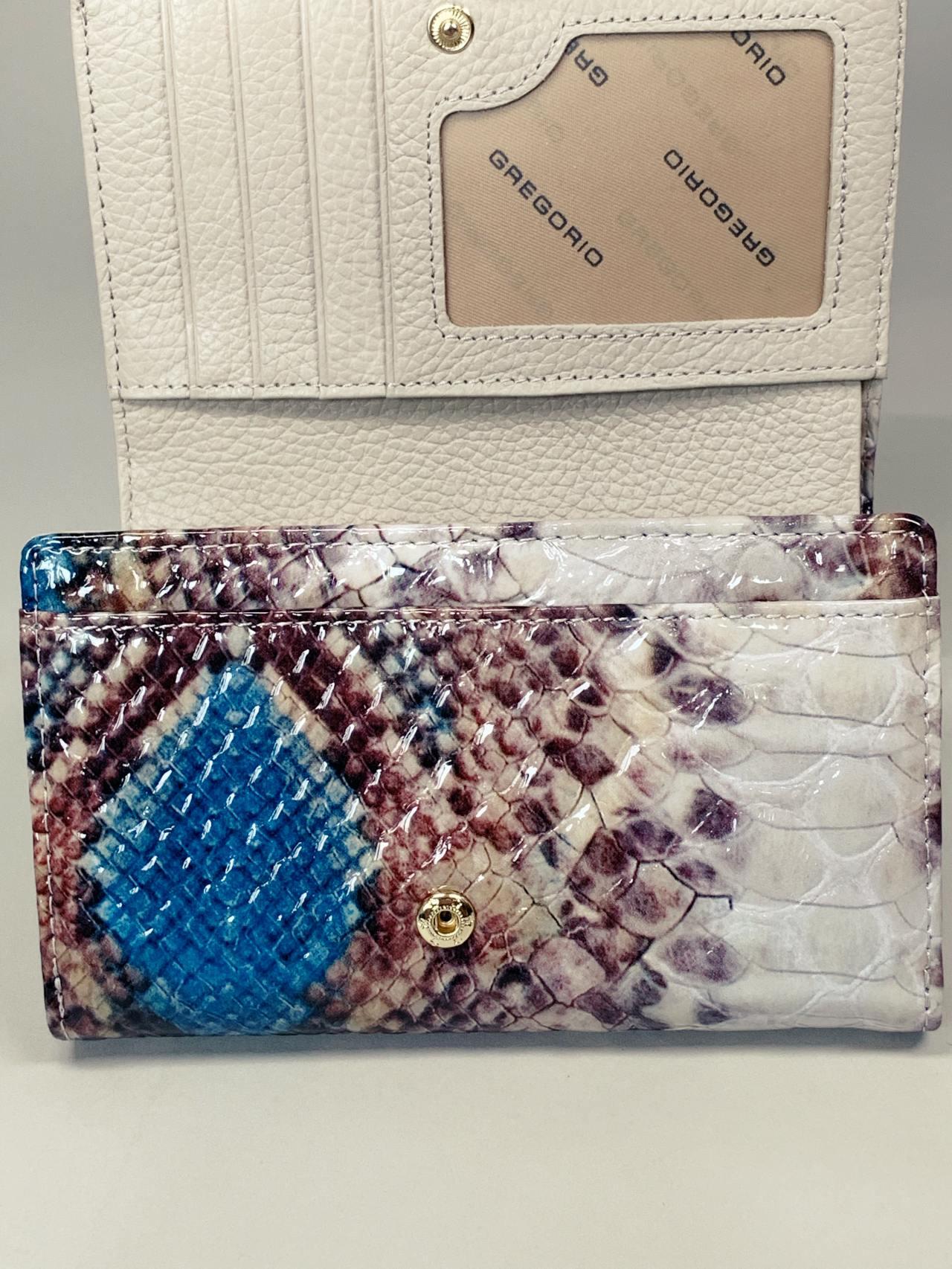 Kožená peněženka Gregorio Snake M2 modrá -05