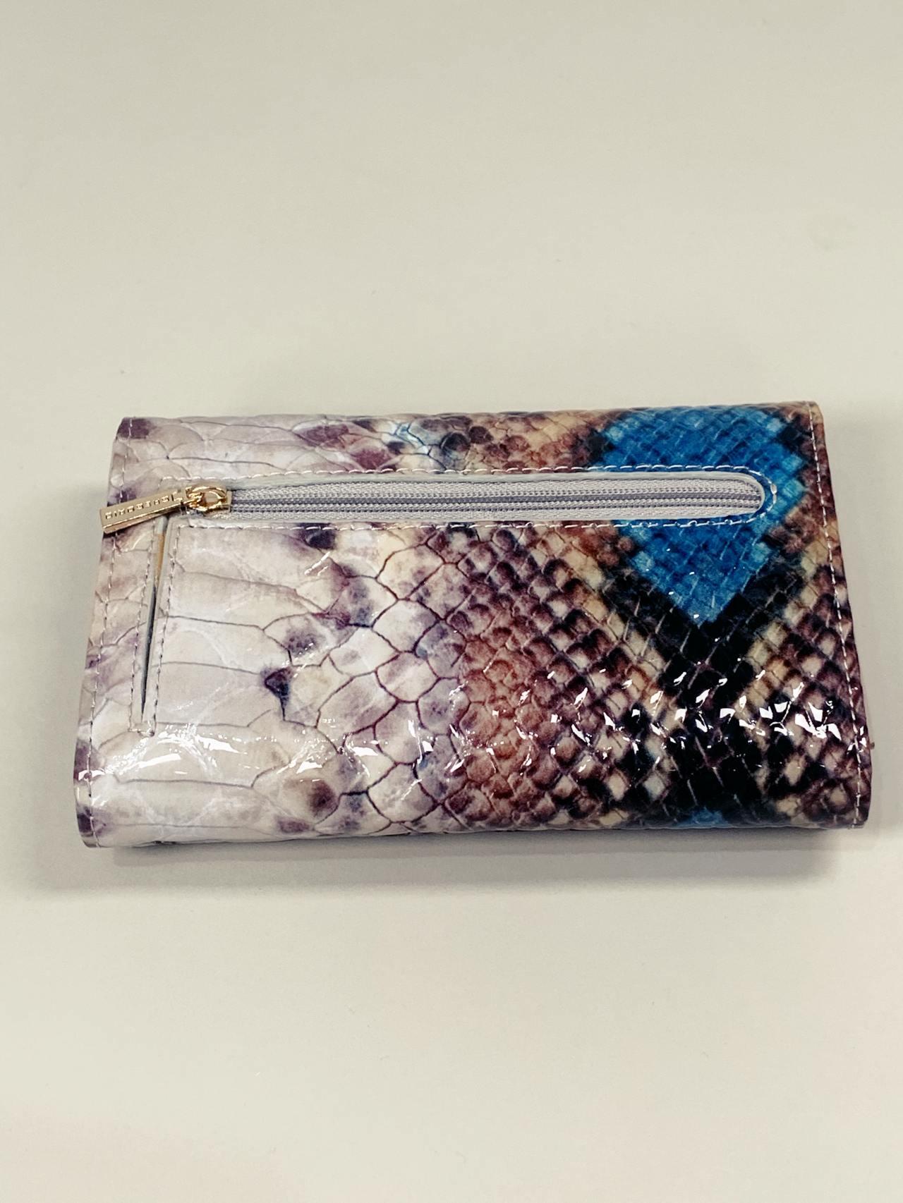Kožená peněženka Gregorio Snake M2 modrá -06