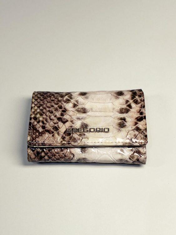 Kožená peněženka Gregorio Snake S hnědá -01