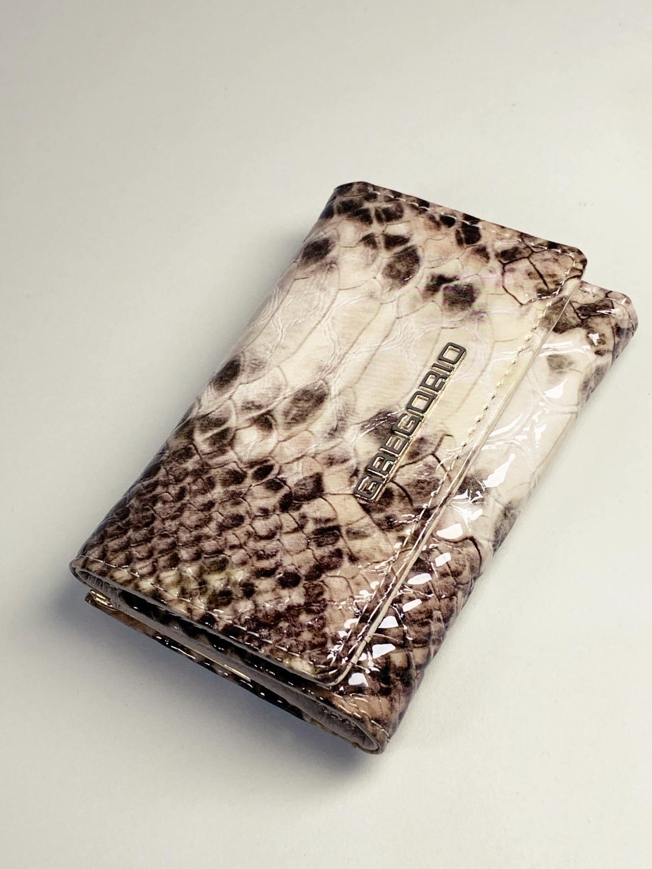 Kožená peněženka Gregorio Snake S hnědá -02