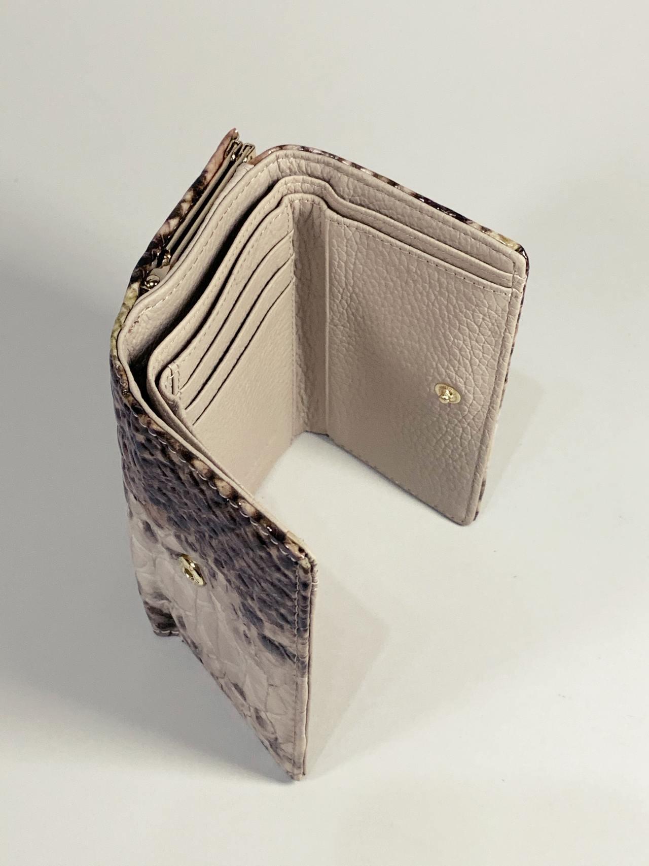 Kožená peněženka Gregorio Snake S hnědá -03