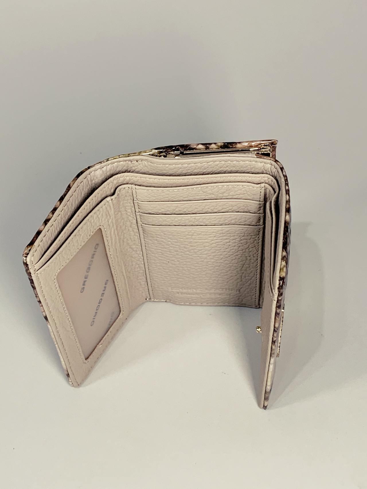 Kožená peněženka Gregorio Snake S hnědá -04
