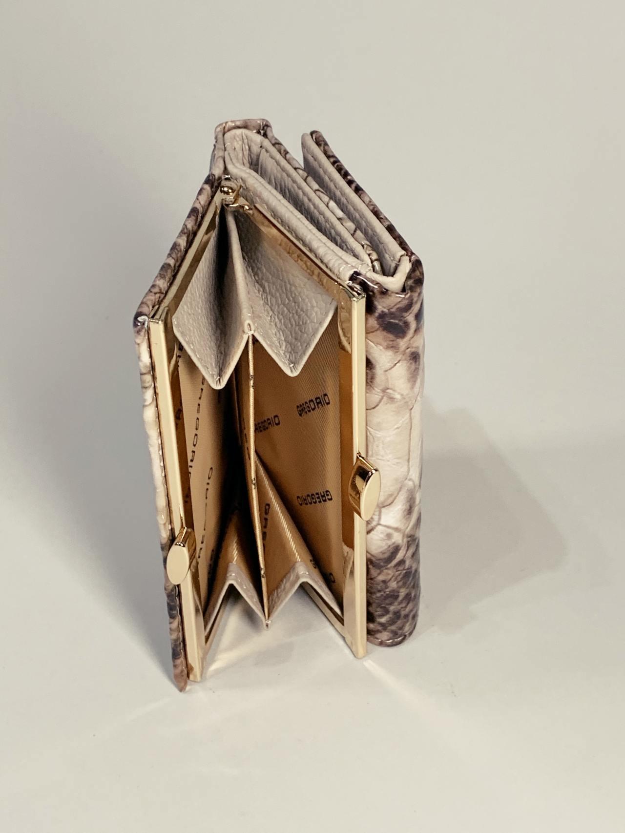 Kožená peněženka Gregorio Snake S hnědá -05