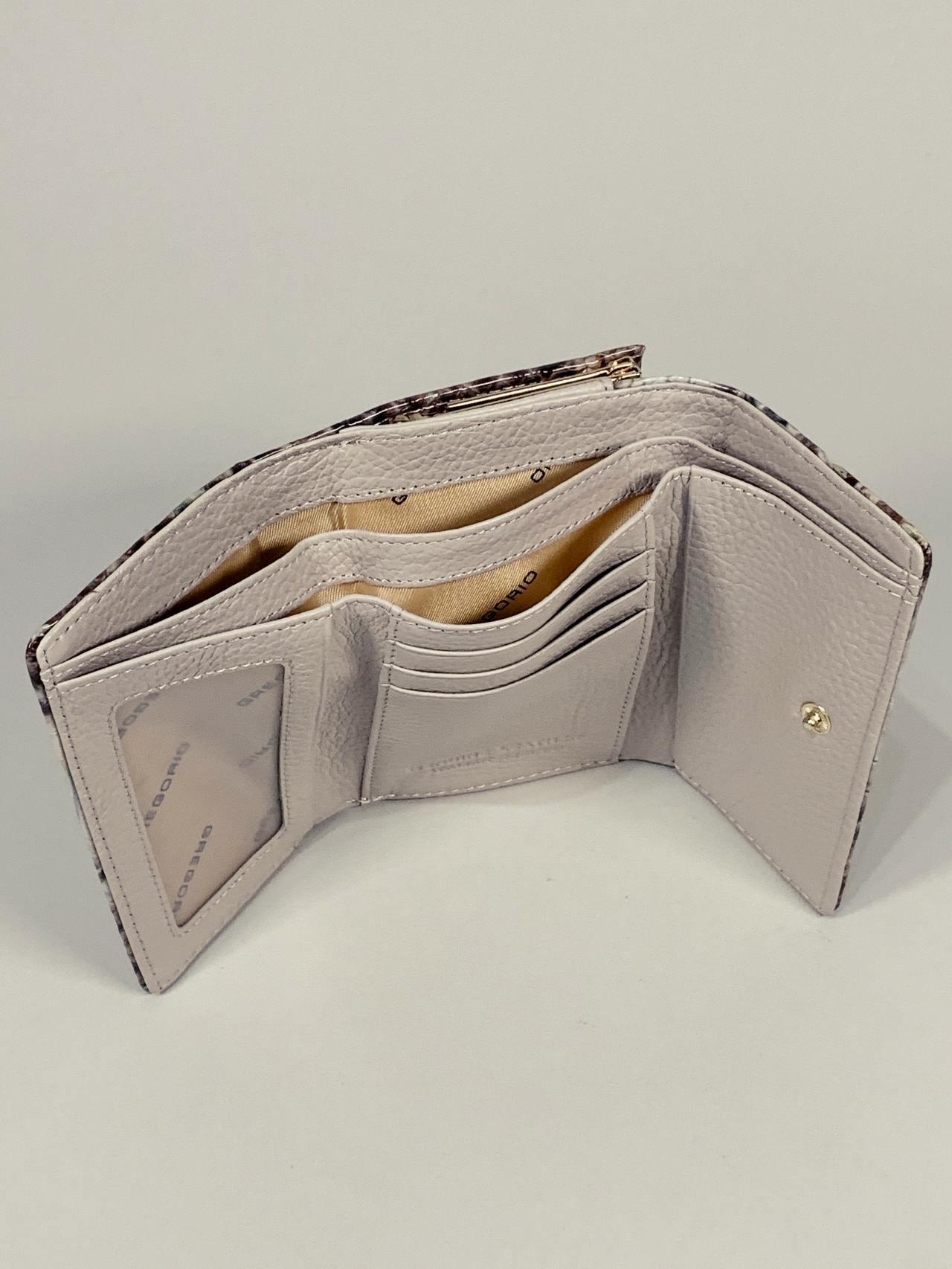 Kožená peněženka Gregorio Snake S hnědotyrkysová -03